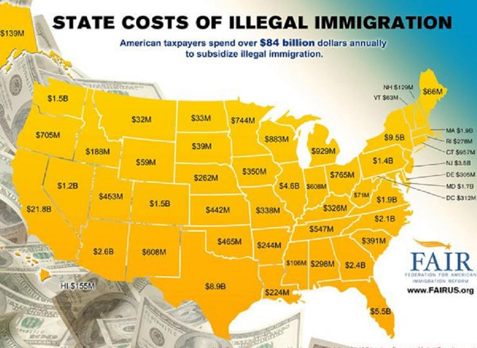 cost illegal immigrants
